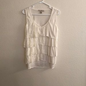 French Laundry Ruffled Top Ladies size P/L